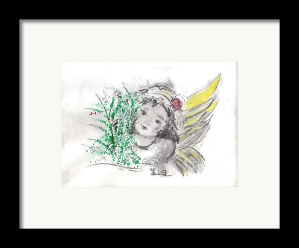 Christmas Angel Framed Print By Laurie D Lundquist