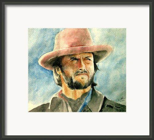 Clint Eastwood Framed Print By Nitesh Kumar