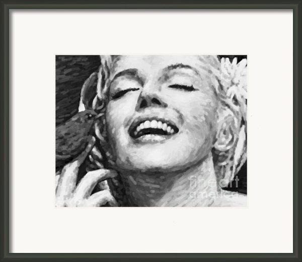 Close Up Beautifully Happy Framed Print By Atiketta Sangasaeng
