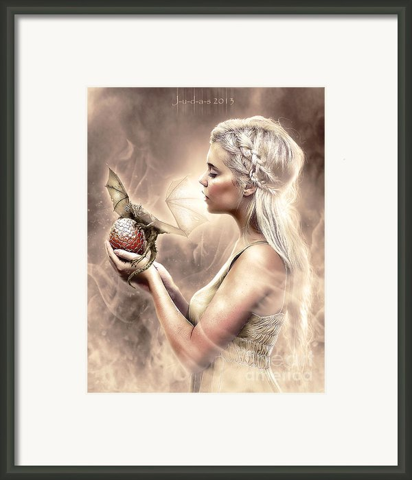 Daenerys Framed Print By Judas Art