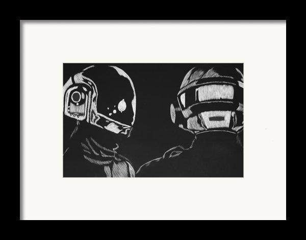 Daft Punk Framed Print By Trevor Garner