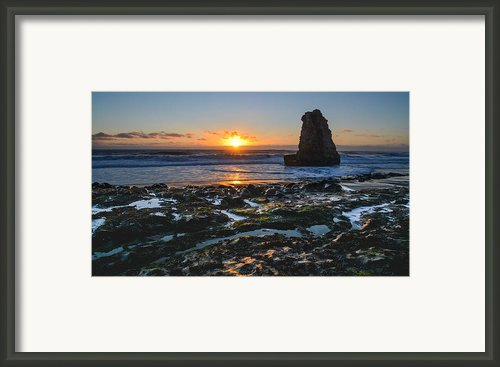 Davenport Beach Sunset 1 Framed Print By About Light  Images