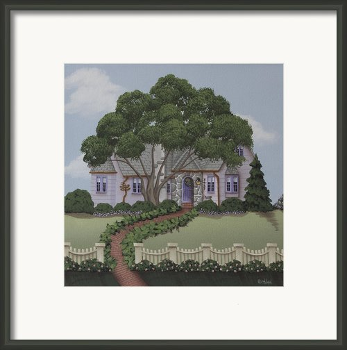 Dragonfly Cottage Framed Print By Catherine Holman