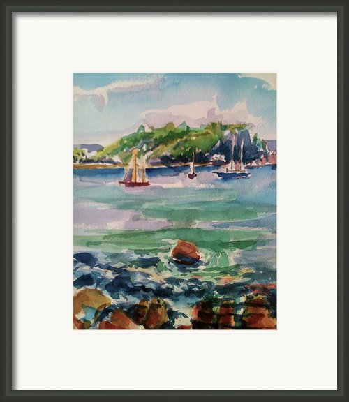 Esperanza Harbor Framed Print By Barbara Richert