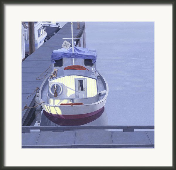 Evening At Port Hardy Framed Print By Gary Giacomelli