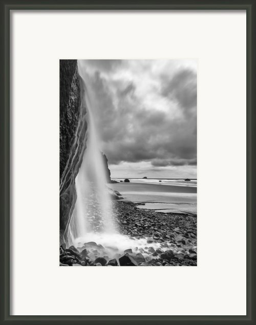 Falling Into The Sea Framed Print By Jon Glaser