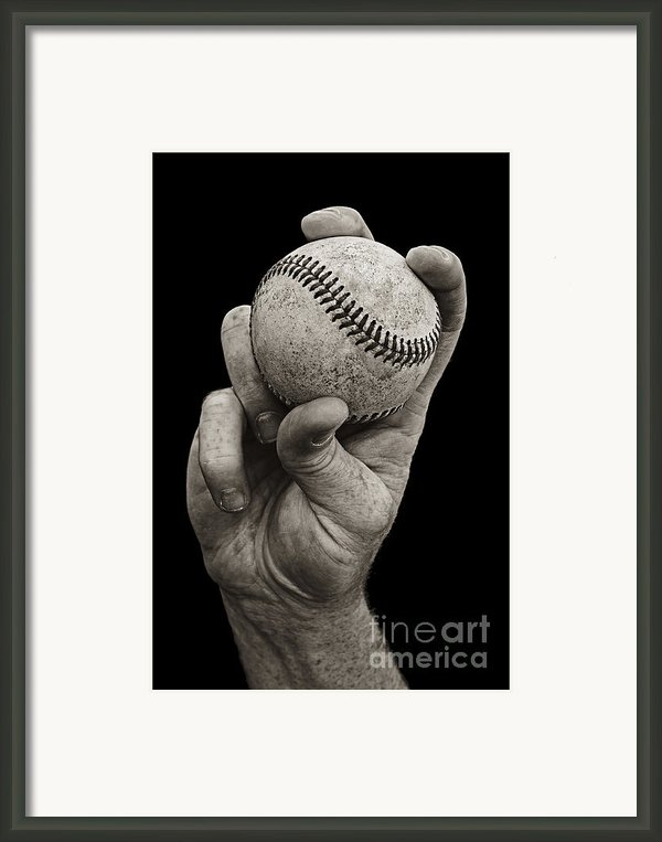 Fastball Framed Print By Diane Diederich