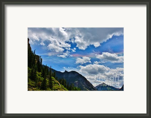 Fire In The Sky Ouray Colorado Framed Print By Janice Rae Pariza