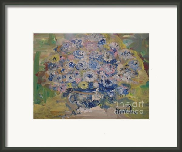Flow Bleu Framed Print By Laurie D Lundquist
