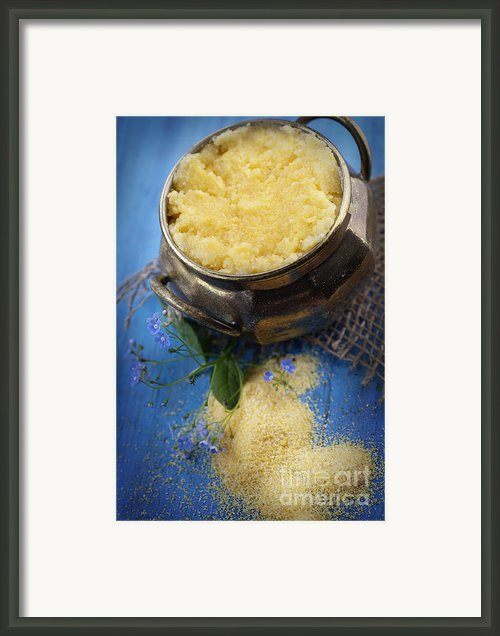 Fresh Corn Meal Framed Print By Mythja  Photography