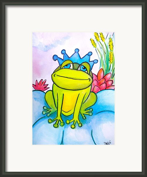 Frog Prince Framed Print By Debi Pople