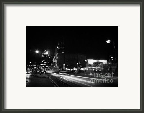 Gedachtniskirche Christmas Market On Kudamm Berlin Germany Framed Print By Joe Fox