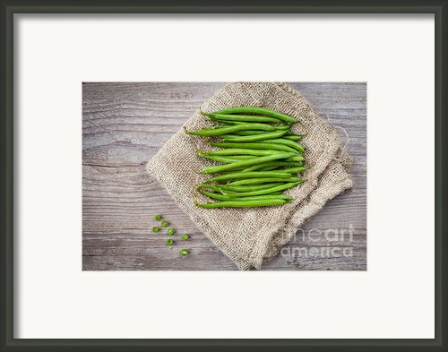 Green Beans Framed Print By Sabino Parente