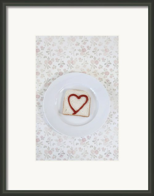 Hearty Toast Framed Print By Joana Kruse