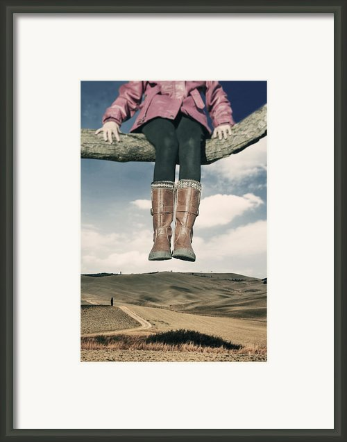 High Over The World Framed Print By Joana Kruse