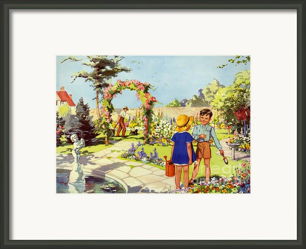 Infant School Illustrations 1950s Uk Framed Print By The Advertising Archives