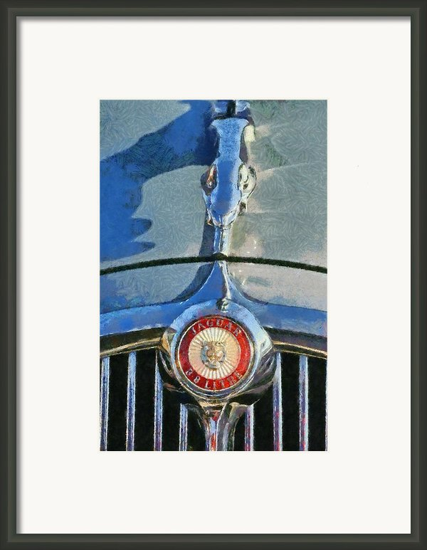 Jaguar 3.8 S Type 1966 Badge Framed Print By George Atsametakis