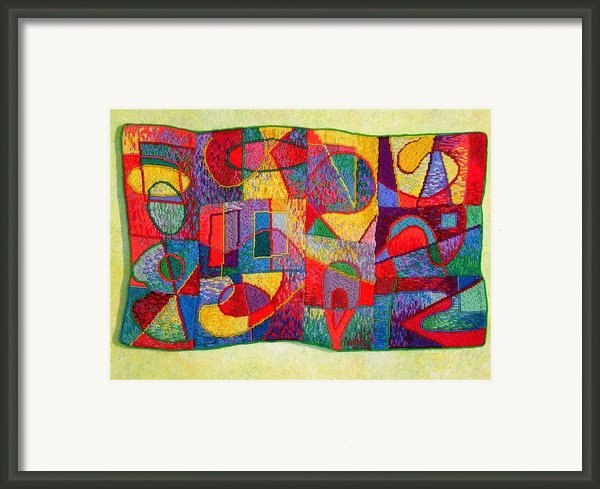 Jigsaw Tapestry Framed Print By Diane Fine