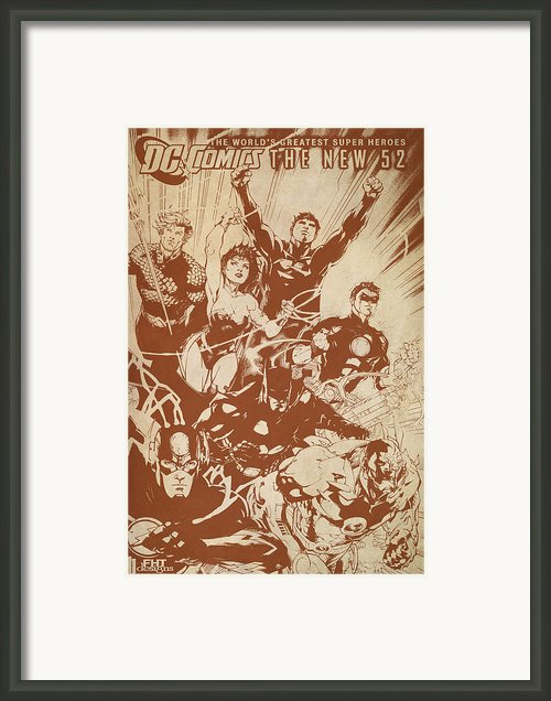 Justice League Of America Framed Print By Fht Designs