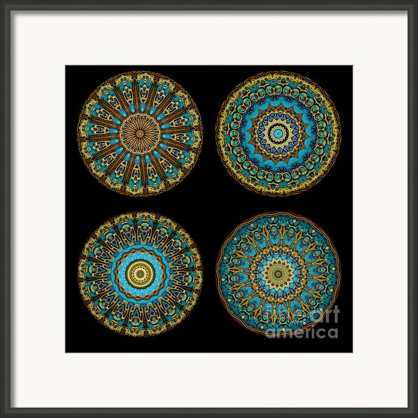 Kaleidoscope Steampunk Series Montage Framed Print By Amy Cicconi