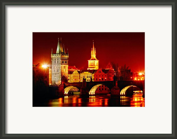 Karluv Most Framed Print By John Galbo