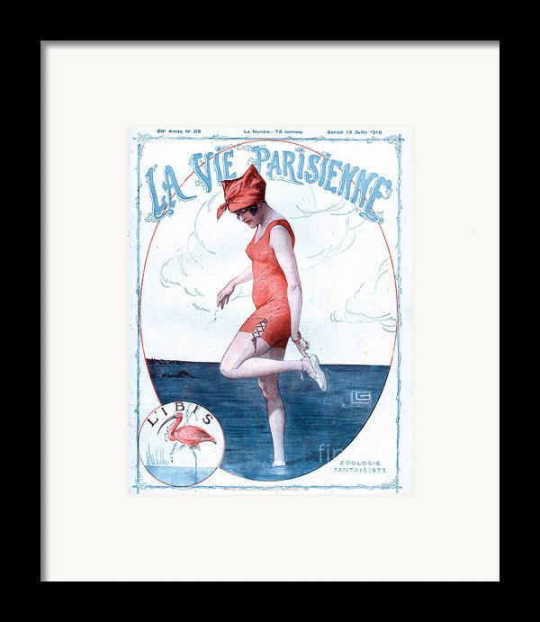 La Vie Parisienne 1918 1910s France Framed Print By The Advertising Archives