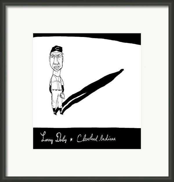 Larry Doby Cleveland Indians Framed Print By Jay Perkins