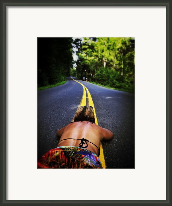 Lay It On The Line Framed Print By Natasha Marco