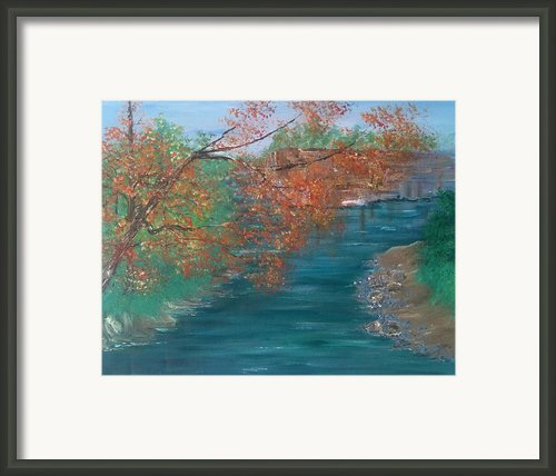 Lazy River Framed Print By Laura Inniger