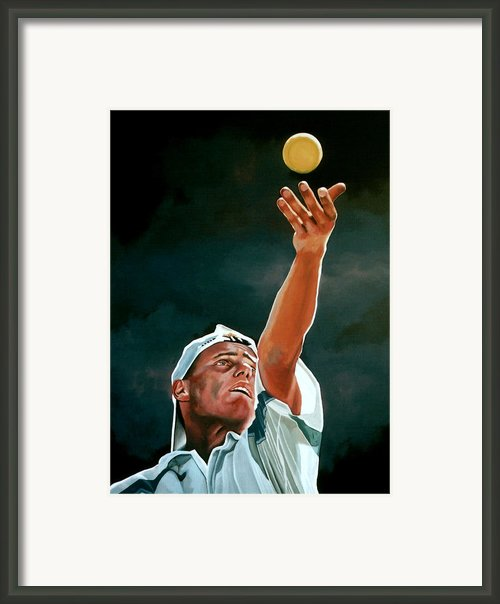 Lleyton Hewitt Framed Print By Paul  Meijering