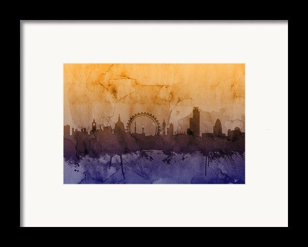 London England Skyline Framed Print By Michael Tompsett
