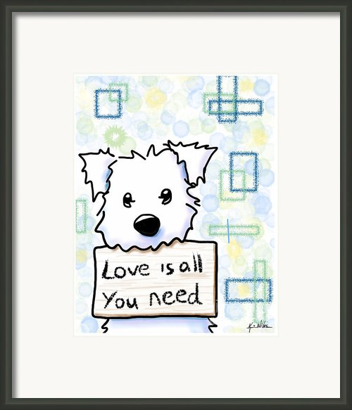 Love Is All You Need Framed Print By Kim Niles