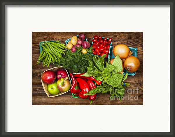 Market Fruits And Vegetables Framed Print By Elena Elisseeva
