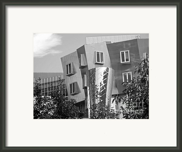 Massachusetts Institute Of Technology Stata Center Framed Print By University Icons