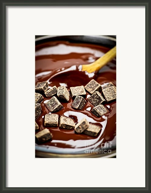Melting Chocolate Framed Print By Elena Elisseeva