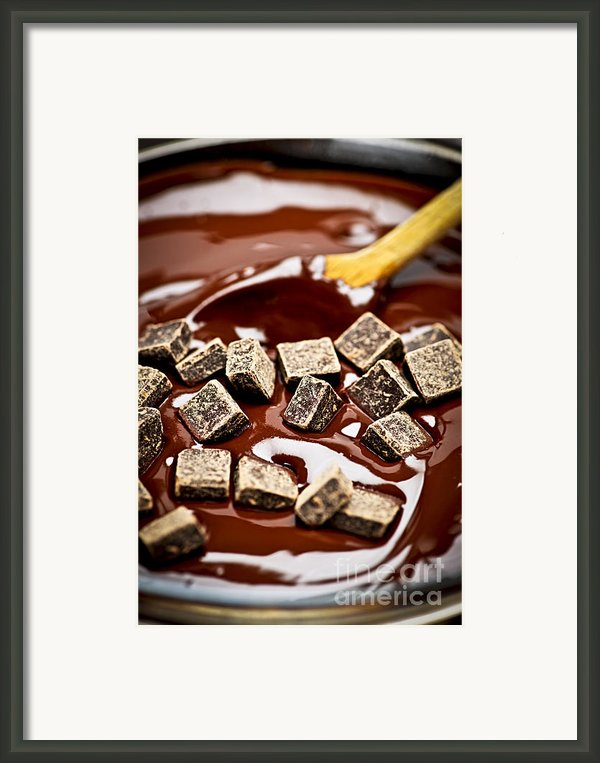 Melting Chocolate Framed Print By Elena Elisseeva