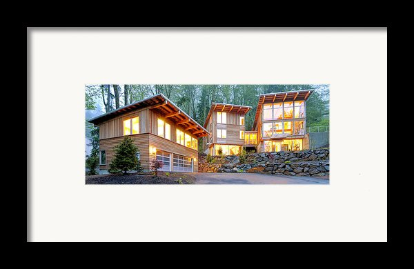 Modern Home In Woods Framed Print By Will Austin