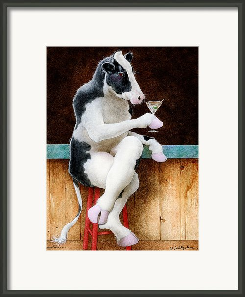 Mootini... Framed Print By Will Bullas