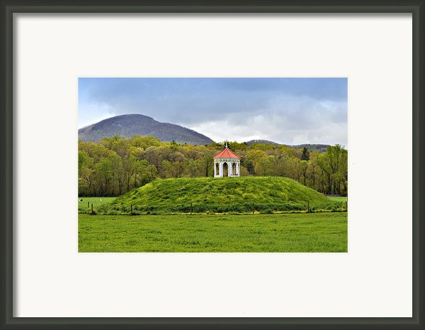 Nacoochee Indian Mound Framed Print By Susan Leggett