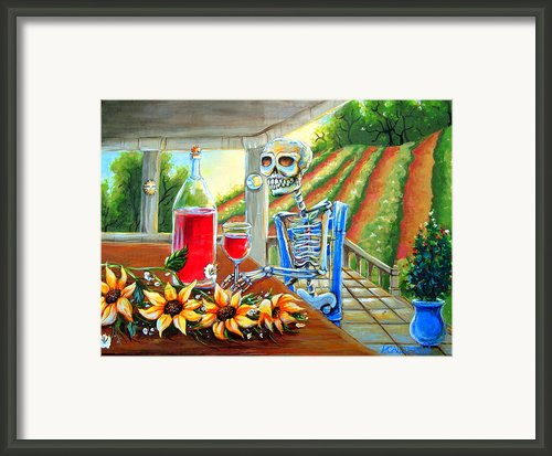 Napa Wine Skeleton Framed Print By Heather Calderon