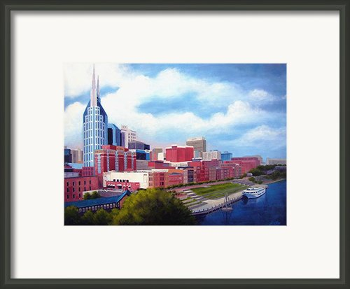 Nashville Skyline Framed Print By Janet King