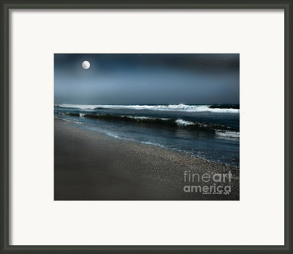 Night Beach  Framed Print By Artist And Photographer Laura Wrede