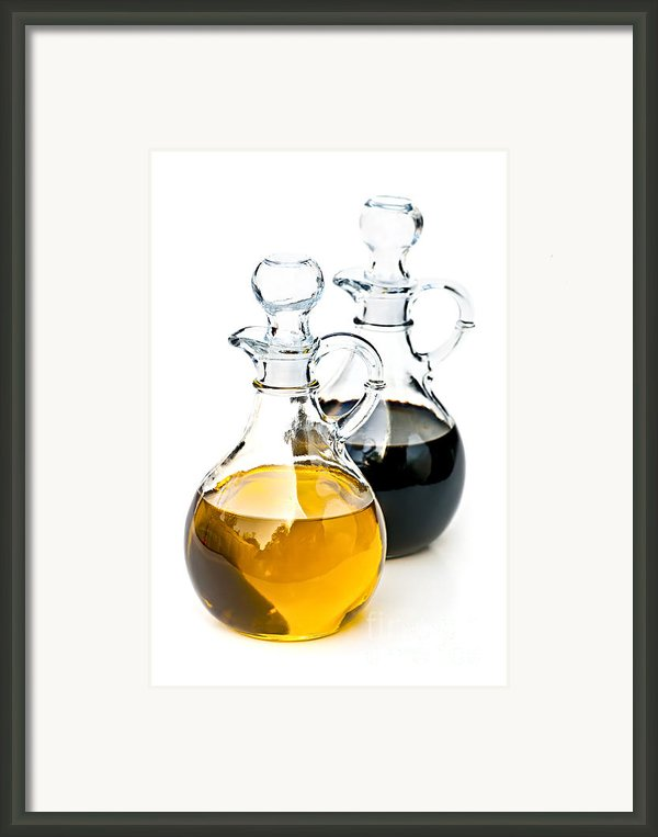 Oil And Vinegar Framed Print By Elena Elisseeva
