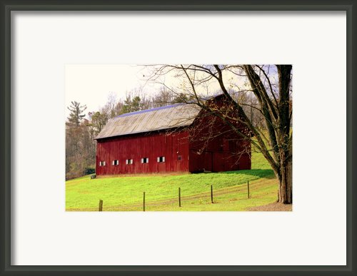 Old Red Framed Print By Karen Wiles
