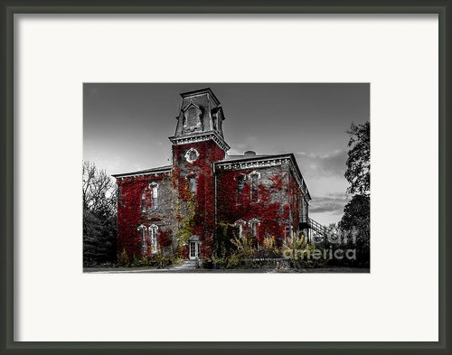 Old School House Framed Print By Dawn M Smith