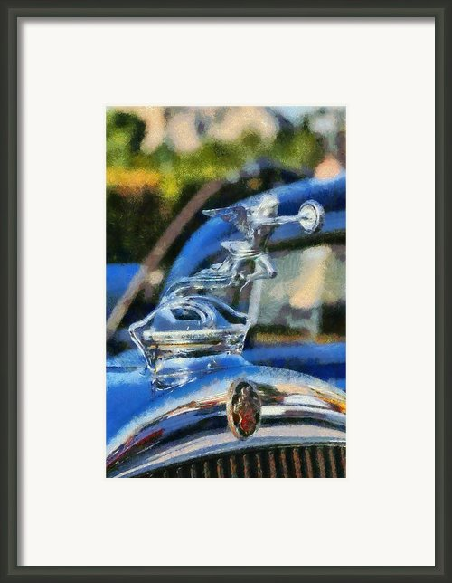 Packard 626 1929 Badge Framed Print By George Atsametakis