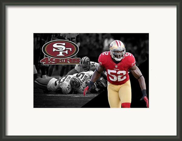 Patrick Willis 49ers Framed Print By Joe Hamilton