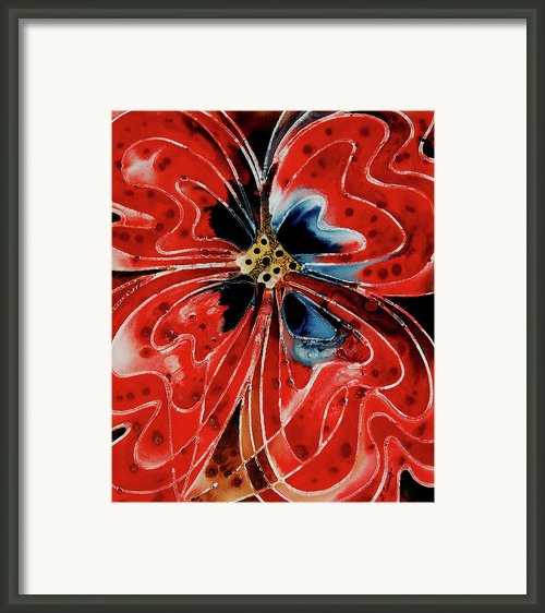 Pavot Rouge Framed Print By Sharon Cummings