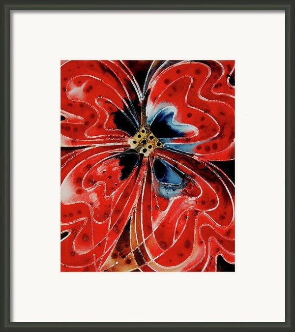 Pavot Rouge Framed Print By Sharon Cummings