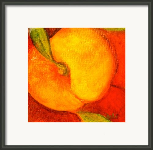 Peachy Framed Print By Debi Pople